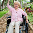 Disabled Senior Success — Stock Photo