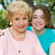 Stock Photo: Grandmother & Granddaughter