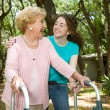 Grandmother & Teen Laughing — Stock Photo