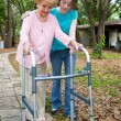 Stock Photo: Grandmother with Walker