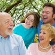 Grandpa Tells a Joke — Stock Photo