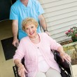 Stock Photo: Happy Nursing Home Resident