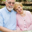 Happy Seniors In Love — Stock Photo