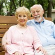 Happy Seniors on Swing — Stock fotografie