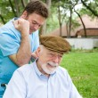 Massage Therapist with Client — Stock Photo