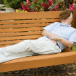 Nap in the Park — Stock Photo