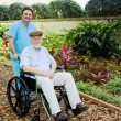 Nursing Home - Walk in the Garden — Stock Photo #6596697