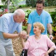 Foto Stock: Nursing Home Visit