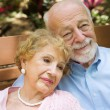 Reminiscing Senior Couple — Stock Photo