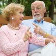 Stock Photo: Senior Couple Disagreement