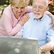 Senior Couple Reading E-mail — Stock Photo