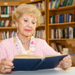 Senior Lady Reading — Stock Photo