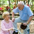 Senior Love Connection — Stock Photo