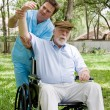 Stock Photo: Senior Physical Therapy Session