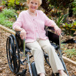 Senior Woman In Wheelchair Outdoors — Stock Photo