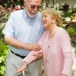 高齢者 - 信頼と愛 — ストック写真