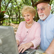 Seniors Browsing the Internet — Stock Photo #6596783