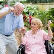 Seniors Conquering Adversity — Stock Photo