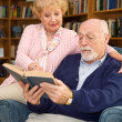 Seniors Enjoy Reading — Stock Photo