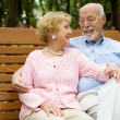 Seniors Relaxing in Park — Stock Photo