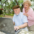Seniors on Computer - Funny E-mail — Stock Photo