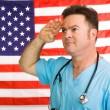American Medic Salutes — Stock Photo #6596838