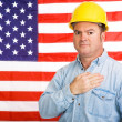 American Worker Pledge — Stock Photo