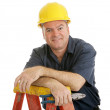Construction Worker Relaxed — Stock Photo