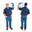Water Delivery Man - Four Views — Stock Photo