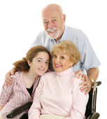 Loving Grandparents — Stock Photo