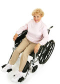 Smiling Senior Lady in Wheelchair — Stock Photo
