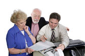 Accounting Series - Seniors & Taxes — Stock Photo