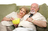 Relaxing With Television — Stock Photo