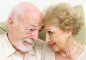 Senior Couple Flirting — Stock Photo
