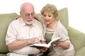 Senior Couple Reading Together — Stock Photo