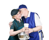 Senior Workers in Love — Stock Photo