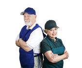 Senior Working Couple — Stock Photo