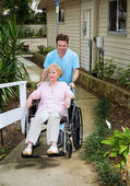 Arriving at the Nursing Home — Stock Photo