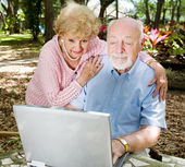 Computer Savvy Seniors — Stock Photo