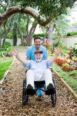 Disabled Senior - Fun — Stock Photo