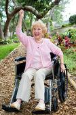 Disabled Senior Success — Stock Photo