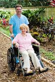 Disabled Senior Woman and Nurse — Stock Photo