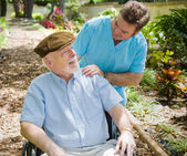 Elderly Patient and Nurse — Stock Photo