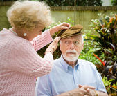 Face of Alzheimers Disease — Stock Photo