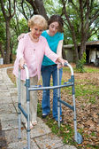 Grandmother with Walker — Stock Photo