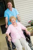 Happy Nursing Home Resident — Stock Photo