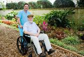 Nursing Home - Walk in the Garden — Stock Photo
