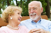 Senior Couple - Love and Laughter — Stock Photo