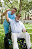 Senior Physical Therapy Session — Stock Photo