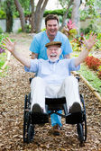Disabled Senior - Fun — Stock Photo